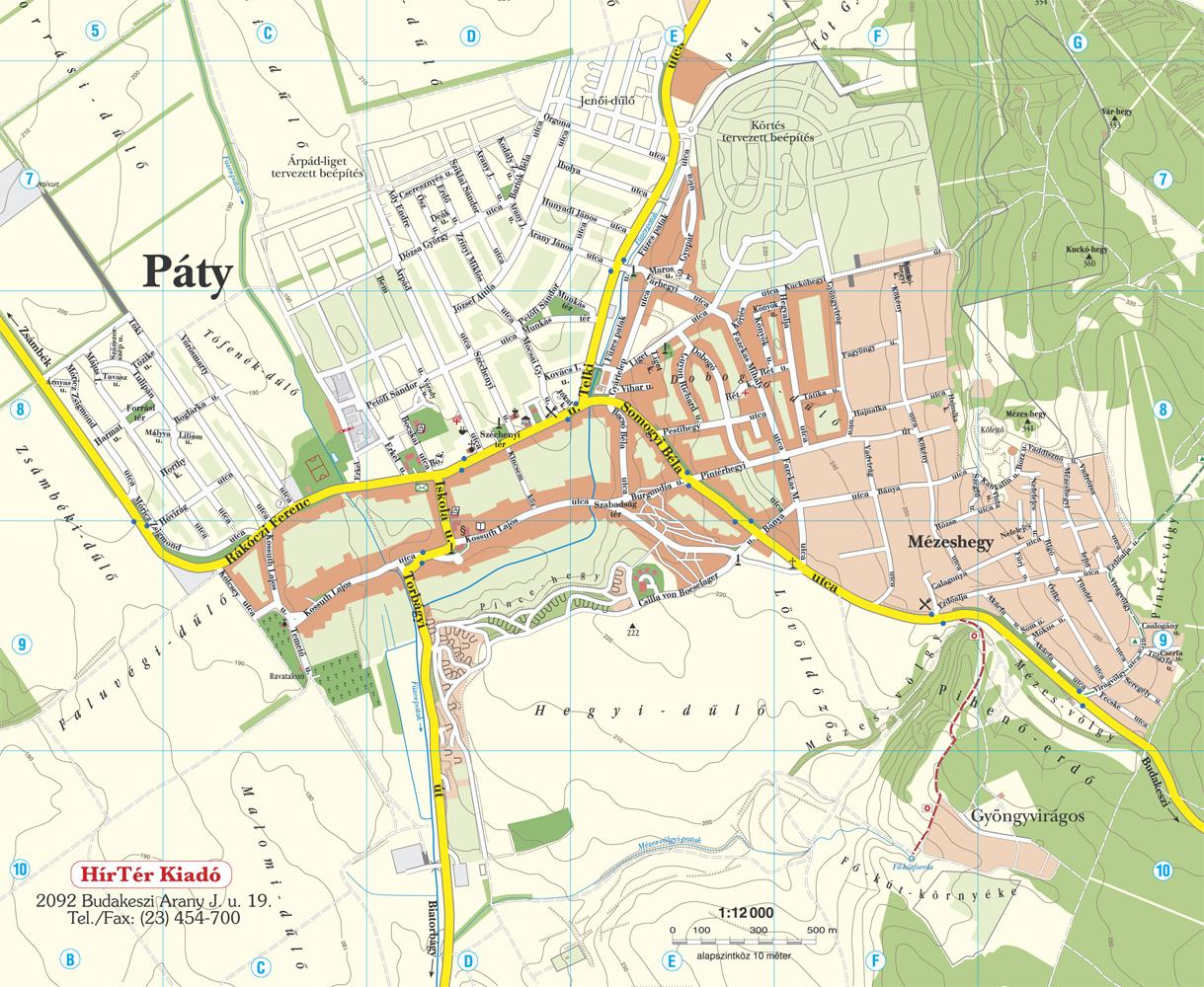 páty térkép Térképek páty térkép